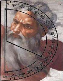 god with protractor